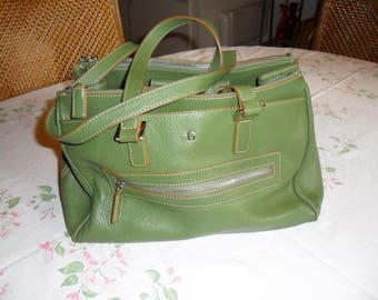 Vintage Green Leather Etienne Aigner Hangbage