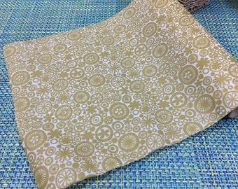 1970's Avocado Green Floral Contact Paper Drawer Liner- contact paper, drawer liner, 1970s decor, avocado green contact paper, vinyl paper