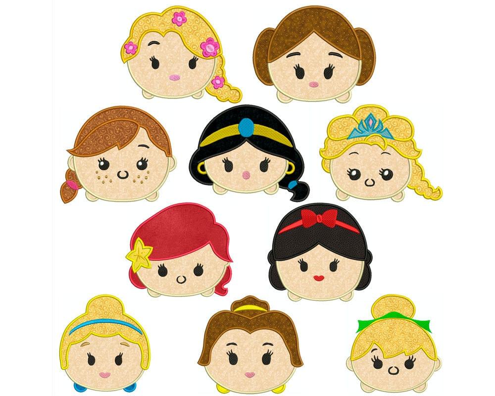 Como Dibujar Y Pintar A Tsum Tsum De Ariel 2: TSUM TSUM Princesses Machine Applique Embroidery 10