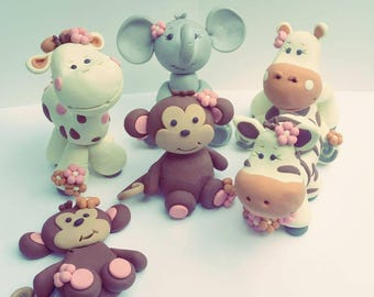 Baby Jungle Animals Christmas Ornament Baby Animals Christmas Ornament Baby First Christmas Lion Giraffe Elephant Hippo Tiger Zebra Monkey