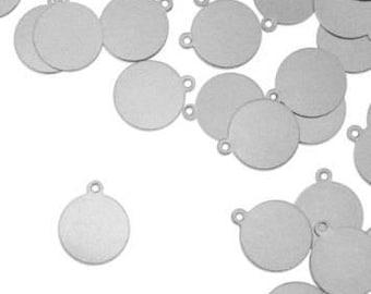 Metal Stamping Blanks Hand Stamping Blanks Circle Blanks 12mm Aluminum Blanks Circle Blanks Wholesale Stamping Blanks Silver Circle 10 pcs
