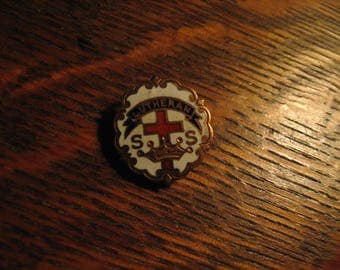 Lutheran Church Lapel Pin - Vintage Religious Littles Cross And Crown System Pin