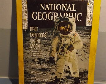 National Geographic Mood landing issue with inclosed record, Vintage space, Vintage National Geographic