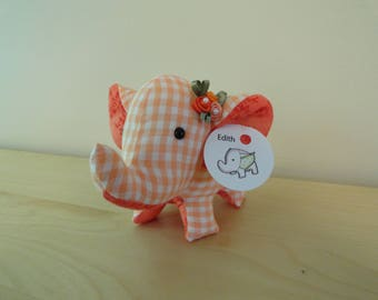 Tiny Stuffed Elephant- Edith
