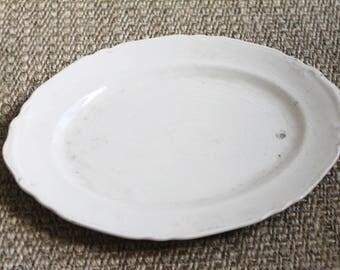 Antique Ironstone Platter - Crown Potteries Co White Ironstone Plate Platter Serving Dish