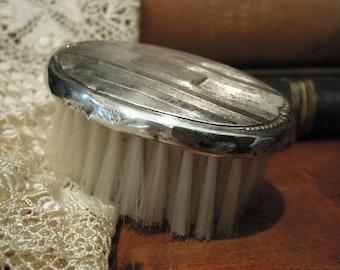 Vintage Sterling Silver Webster Baby Brush / Hair Brush / Clothes Brush / Sterling Hair Brush / Vanity