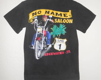 Vintage 1990s NO NAME SALOON Florida motorcyle tee / t-shirt