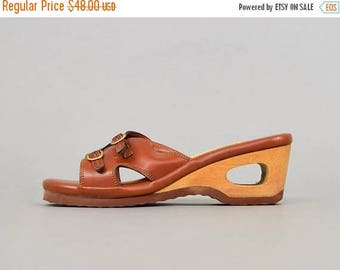 SUMMER SALE 70's Hippie Cut-Out Wedges