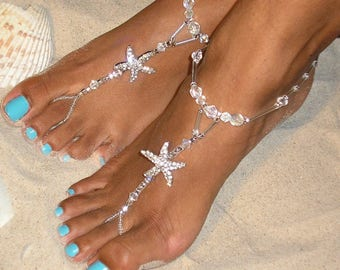 Barefoot sandals - beach wedding barefoot sandals - barefoot wedding sandals -barefoot sandals wedding- Boho Barefoot Sandals The Fiji HF105