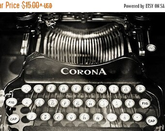 Corona vintage typewriter Fine Art Photography Black and White Photography Art Office Decor Still life Typewriter print Still life