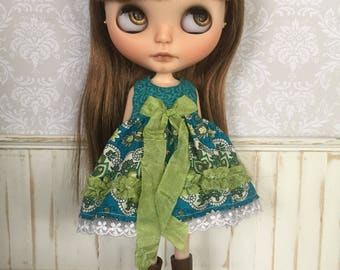 Blythe Dress - Teal and Green