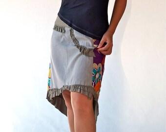 BI-material, skirt skirt short asymmetrical Jersey skirt fashion