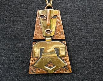 Mod Mexican Tribal Aztec Large Pendant