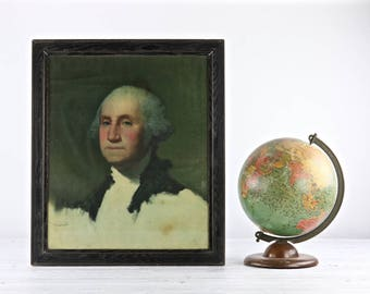 George Washington Portrait Picture President George Washington Picture Antique President Framed Picture U.S. President Picture
