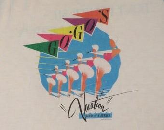 Vintage GO-GO's 1982 tour T SHIRT original concert tee jersey