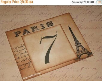 New Year Sale Vintage Style Paris Eiffel Tower French Script Luxury Table Numbers/Names Wedding Original Design