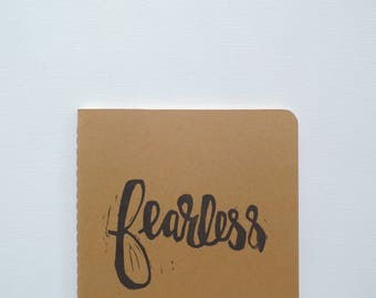 Stocking stuffer Christmas gifts for her under 20, Fearless gifts, Courage Be brave gift, Moleskine writing journal, Best friend gift ideas