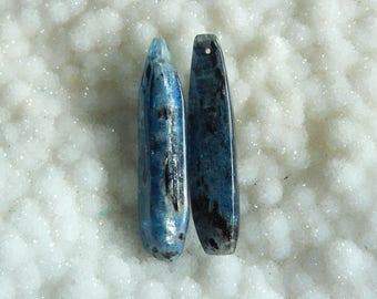Blue Kyanite Gemstone Earring Bead,50x11x7mm,16.5g
