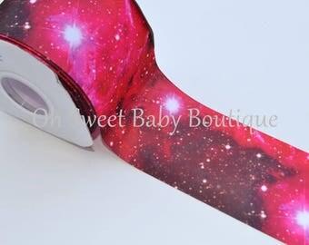 "New **  Cosmic Galaxy 3"" Grosgrain US Designer Ribbon"