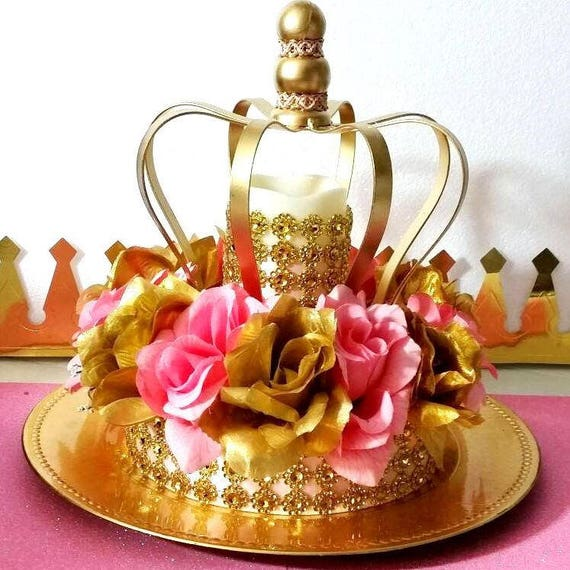 Crown Royal Princess Baby Shower Centerpiece / Girls Pink And