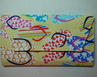 Flip Flop & Sea Shell Fabric Wallet