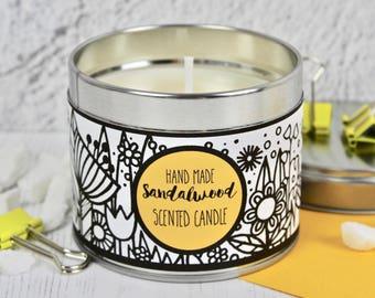 Hand Made Sandalwood Candle