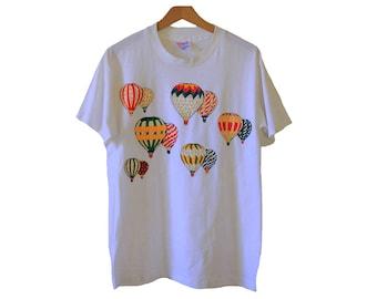 Vintage 80's Hot Air Balloon T-shirt Size Medium