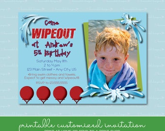 Wipeout Birthday Invitation with Photo