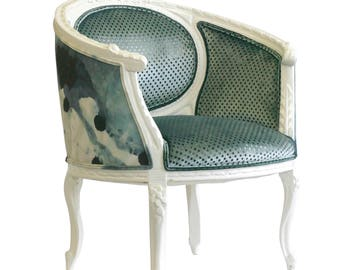"Upholstered ""Paloma"" French Chair"