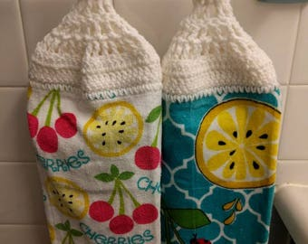 Cute Lemon and Cherry Towel Set