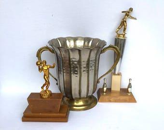 Vintage BRASS LOVING CUP
