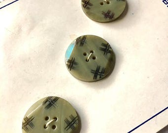 Vintage 1930s Coat Buttons Set of 3