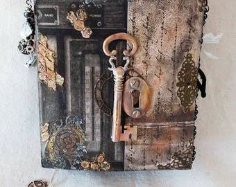 Steampunk Handcrafted Soft Cover Junk Journal 2016