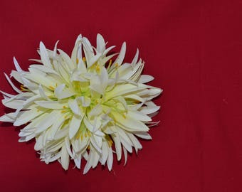White Spider Lily Hair Clip  approx. 6in