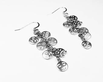 Emoji Earrings - Emoticon Jewelry for Social Media, Internet Gift