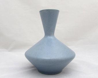 Royal Haeger Blue Vase #93 - Midcentury Atomic Design - 1960s - Matte Glaze