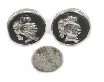Silver Cuff links, Roman Soldier, Knights,  Gift For Him, Silver Cuff links, Wedding Gift, Business Gift