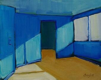 Original Artwork-Giclee-Archival Reproduction Print-interior-Still Life-Blue-8 x 10-Print of Original Painting-Angela Ooghe-Fine Art Print