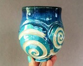 12oz Iridescent Sprial Carved Cup #53
