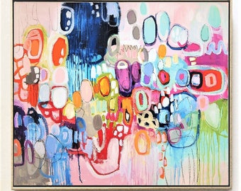 "painting  ,50""  , wunderful  abstract painting , nice  ,wall art, acrylic painting by jolina anthony"