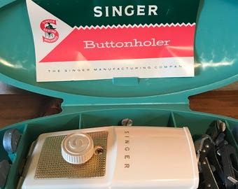 Vintage Singer Buttonholer with original Instruction Manual Sewing Machine Parts