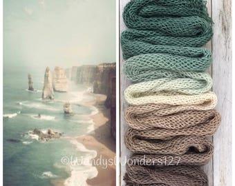 Hand Dyed Yarn, Gradient Yarn, Fingering Weight Yarn, SWM/Silk, Cliffs