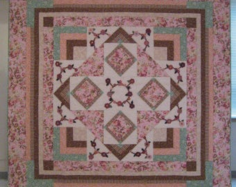 Along the Garden Path King Size Quilt