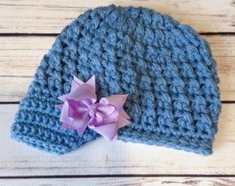 Blue Child Newsboy Hat, Brimmed Child Hat, Chunky Newsboy, Toddler Newsboy Hat, Brimmed Hat, Child Fall Hat, Little Girl Hat, Little Boy Hat