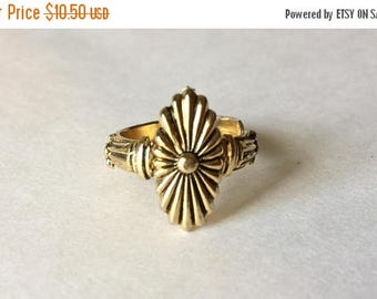 SUMMER SALE 1960s  Vintage Gold Statement Ring With  Adjustable Band