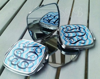 Silver Personalized Compact Mirrors