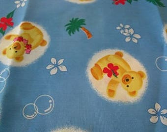 Aloha Bear Blue fabric