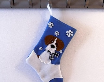 CHRISTMAS IN JULY Boxer Dog Personalized Christmas Stocking by Allenbrite Studio