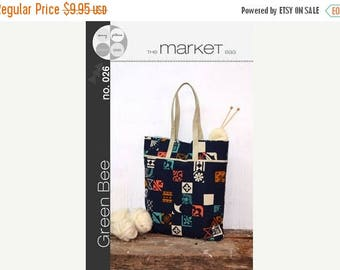 ON SALE The Market Tote Green Bee Designs & Patterns