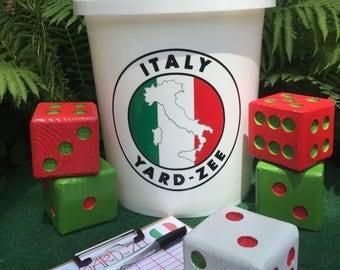 Yard-Zee - Customized YARD-ZEE games - Outdoor  Lawn Games - Lawn Dice - Yahtzee - Italy
